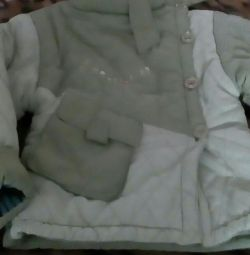Куртка зимняя,шапка и жилетка в комплекте