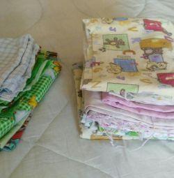 Детские пеленки В ПОДАРОК постельное белье детское