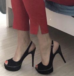 Suede shoes with heels 38