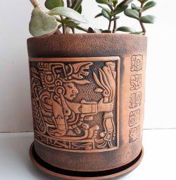 Pot ceramic h 21 cm