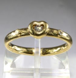Inel din aur cu diamante 17 dimensiuni