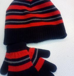 Demi hat and gloves