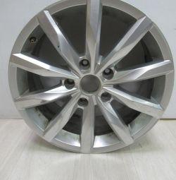 Cast disc 8J.R18.H2.ET43 Volkswagen Touareg 2 oem 7p6601025ac (low abrasion) (cl-3)