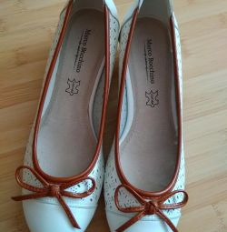 NEW shoes natural leather 38p