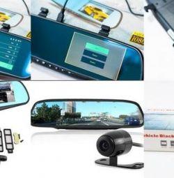 Видеорегистратор 2х кам Vehicle Blackbox DVR новый