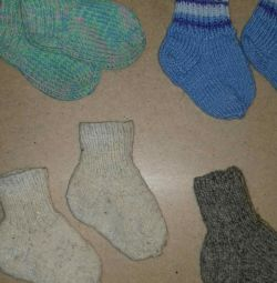Șosete tricotate calde