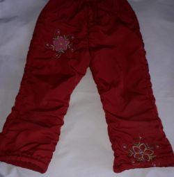 Pants demi-season για το κορίτσι