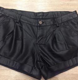 Motivi Leather Shorts