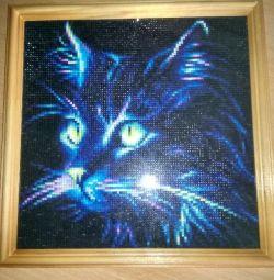 Διαμάντι μωσαϊκά ζωγραφική 25 × 25cm