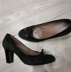 Туфли замшевые 40,5 р, фабиани