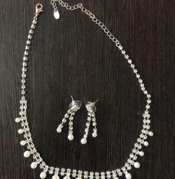 Серьги + ожерелье