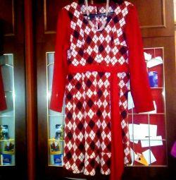 Теплое красивое платье 48-52