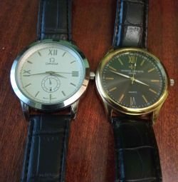 Omega quartz watch and washington constantin