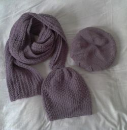 Scarf big hat takes woolen (can be separately)