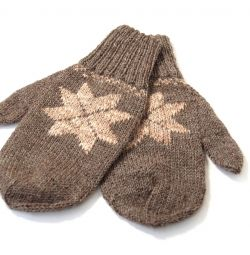 Mittens mâna feminină tricotat nou