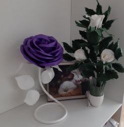 Interior flowers, lamps, floor lamps