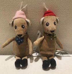 Мягкая игрушка. Мышка в шапке и галстуке.Новая.