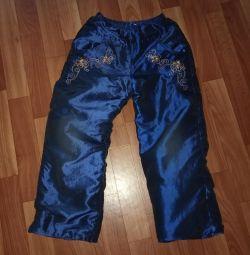 Осенние утепленные штанишки