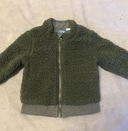 Cardigan for a boy 6 months (insulated)
