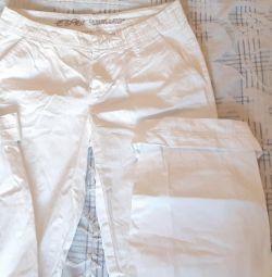 Kar-beyaz pantolon
