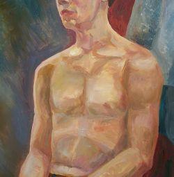 Bir öğrencinin yağlıboya portre