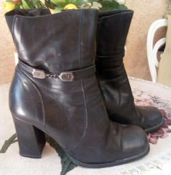 Leather boots Italy, 39 size