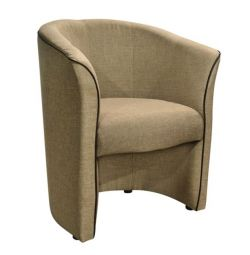 BANNY ARMCHAIR CU MARE BEIGE & RELIEY PU COFFEE HM30