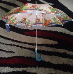 Children's umbrella England new