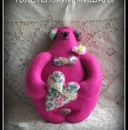 Teddy bear TOLSTYKAYA Mishaniya of felt