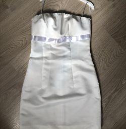 Rochie alba scurta eleganta 40-42r