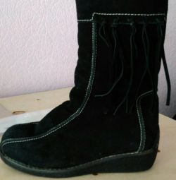 Suede boots 34r