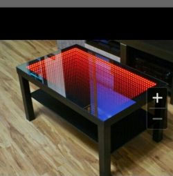 Coffee table with backlight 3D