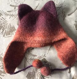 Woolen hat with ears