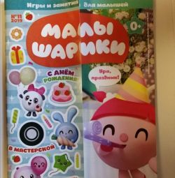 Magazine kids with tasks and stickers
