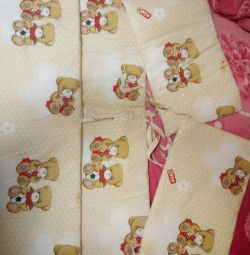 Crib sides with thick padding polyester