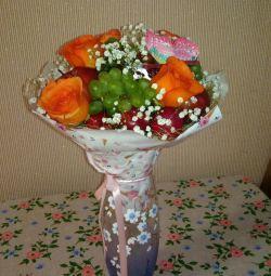 Fruit bouquets, boxes