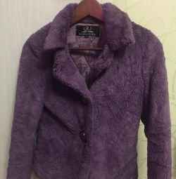 Second-hand short fur coat artificial 42 size