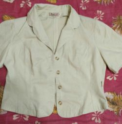 Jacket shortened female classic cape