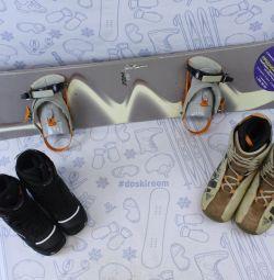 Snowboard Swing 163cm + bindings + boots