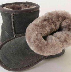 Uggi new children (natur suede, arts fur