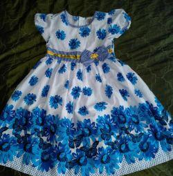 122 cm kız çözümü üzerinde yaz elbise