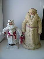 Игрушки из СССР Дед мороз 1960г 2шт