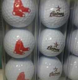 М'ячі для гольфу по 3 шт в упаковці