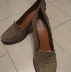 Shoes suede leather, size 37