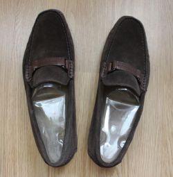 Замшевые туфли HUGO BOSS