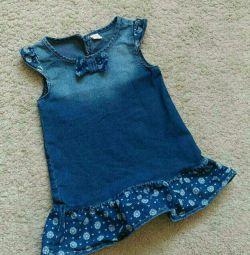 Denim φόρεμα 92 μεγέθη