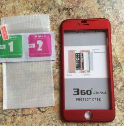 Θήκη + γυαλί στο iPhone 6+ / 7+