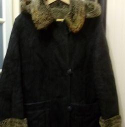 Κλασικό παλτό από δέρμα προβάτου