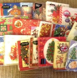 Christmas napkins for decoupage