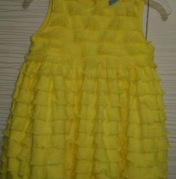 Платье на 4-6 мес💛🐣